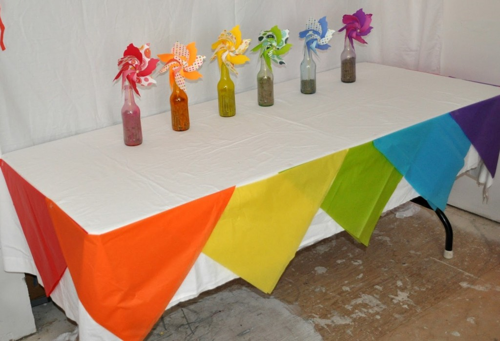 rainbow table decoration